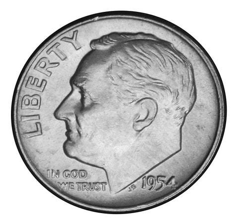 1954-D Roosevelt Dime . . . . Brilliant Uncirculated