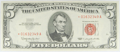 $5.00 1963 United States Note STAR