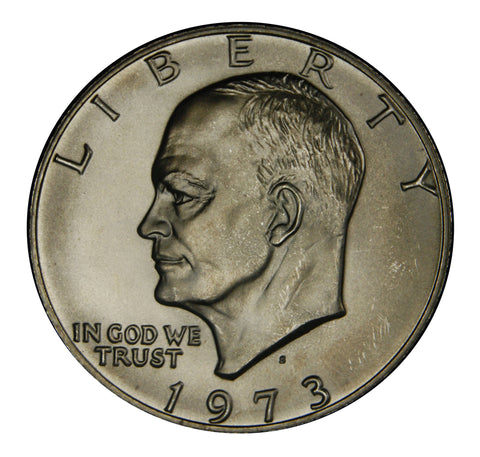 1973-S Eisenhower Dollar . . . . Gem BU Silver
