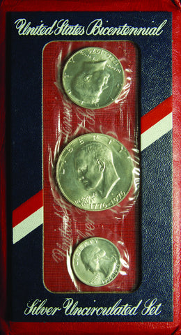 1976 3-piece Silver Mint Set