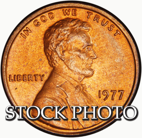 1977 Lincoln Cent . . . . <br>Brilliant Uncirculated