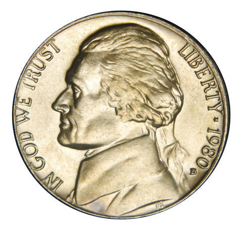 1980-D Jefferson Nickel <br>Brilliant Uncirculated