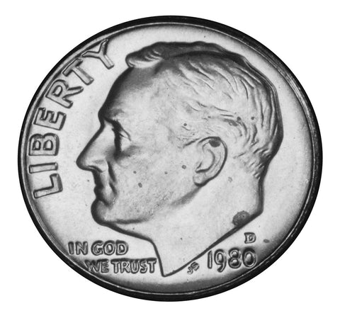 1980-D Roosevelt Dime . . . . <br>Brilliant Uncirculated