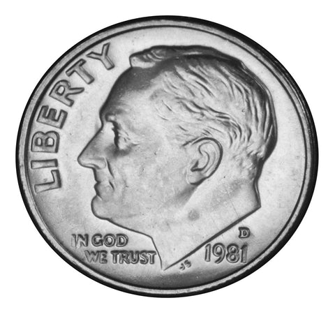 1981-D Roosevelt Dime . . . . <br>Brilliant Uncirculated