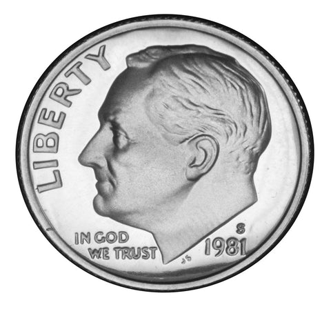 1981-S Type 1 Roosevelt Dime . . . . <br>Gem Brilliant Proof