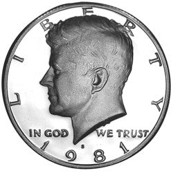 1981-S Type 1 Kennedy Half . . . . <br>Gem Brilliant Proof