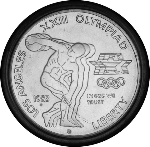 1983-P LA Olympic Discus Thrower Silver Dollar