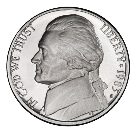 1983-S Jefferson Nickel