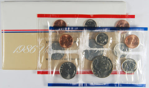 1986 Mint Set . . . . Choice Brilliant Uncirculated