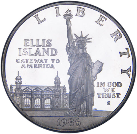 1986-S Statue of Liberty Silver Dollar