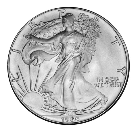 1986 Silver Eagle . . . . <br>Gem Brilliant Uncirculated