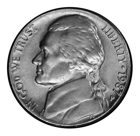 1987 Jefferson Nickel