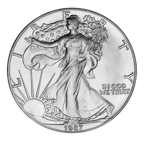 1987 Silver Eagle . . . . <br>Gem Brilliant Uncirculated
