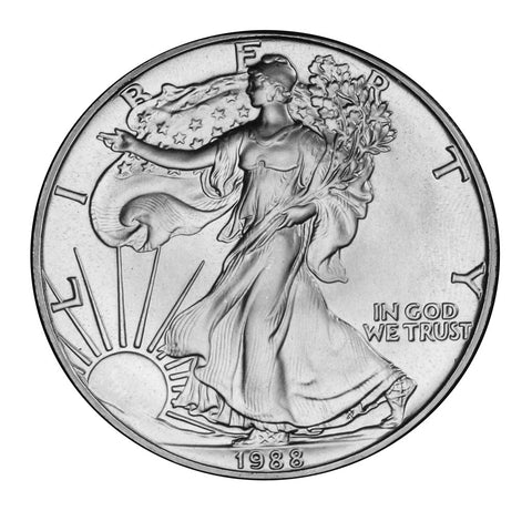 1988 Silver Eagle . . . . <br>Gem Brilliant Uncirculated