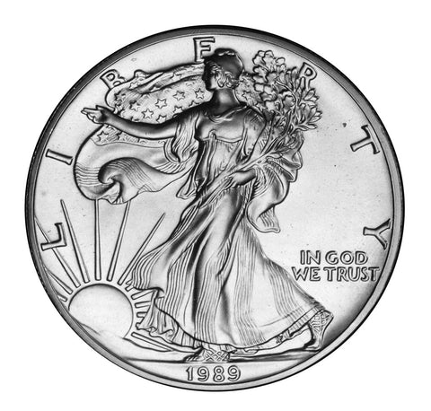 1989 Silver Eagle . . . . Gem Brilliant Uncirculated