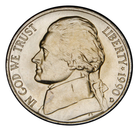 1990-D Jefferson Nickel <br>Brilliant Uncirculated