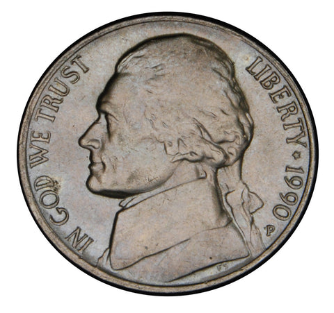 1990 Jefferson Nickel . . . . Brilliant Uncirculated