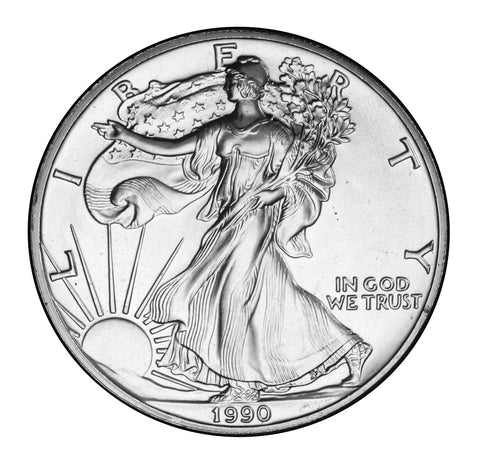 1990 Silver Eagle . . . . <br>Gem Brilliant Uncirculated