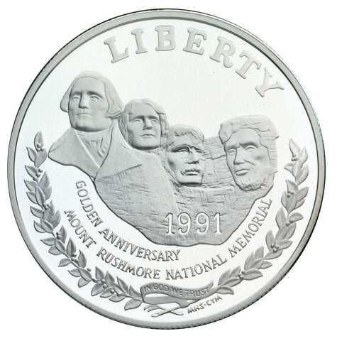1991-S Mt. Rushmore Silver Dollar