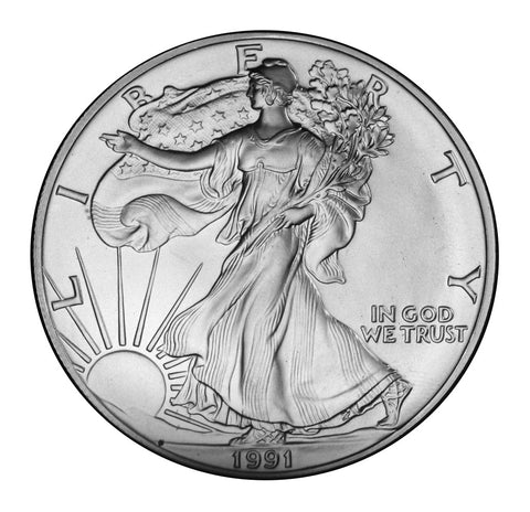 1991 Silver Eagle . . . . <br>Gem Brilliant Uncirculated