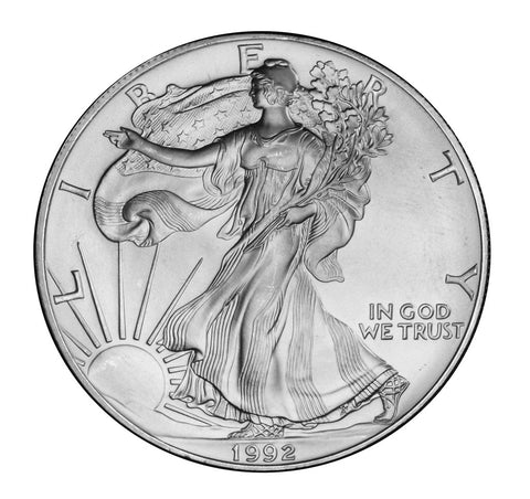 1992 Silver Eagle . . . . <br>Gem Brilliant Uncirculated