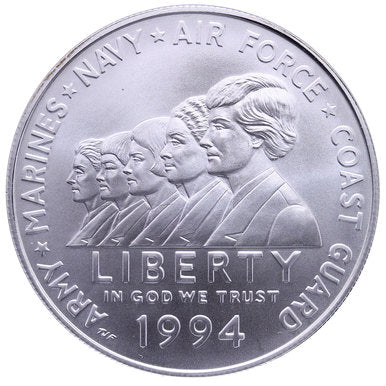 1994-W Women in Military Silver Dollar