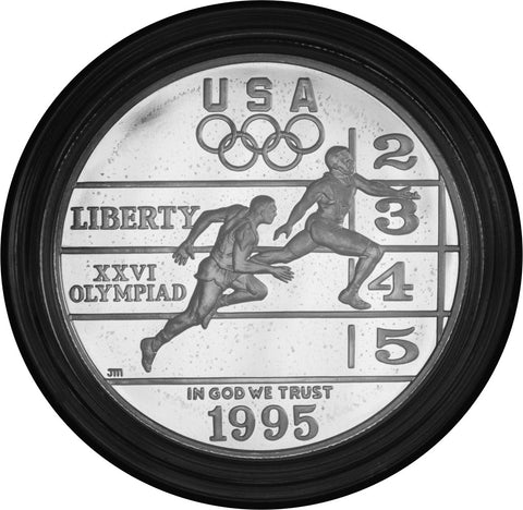 1995-P Olympic Track and Field Silver Dollar <br>Gem Proof in capsule