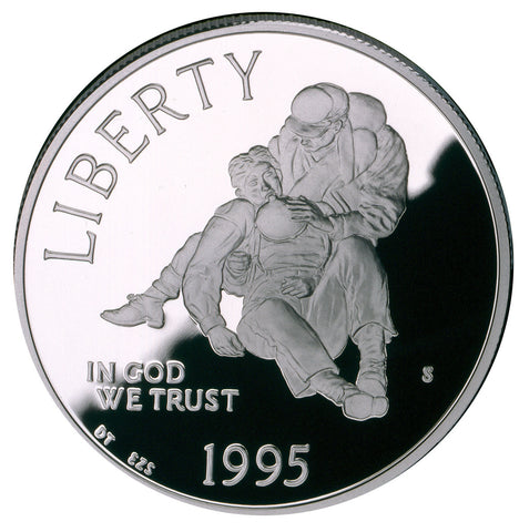 1995-S Civil War Silver Dollar <br>Gem Proof in capsule