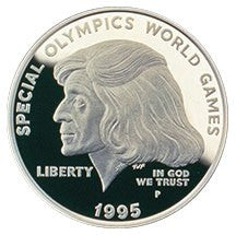1995-P Special Olympics Silver Dollar