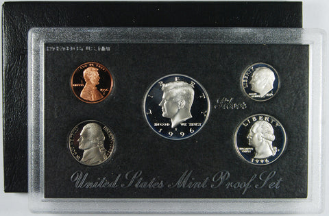 1996-S Silver Proof Set . . . . Gem Brilliant Proof