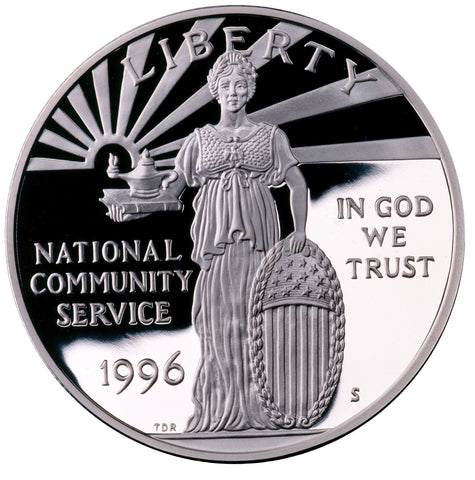 1996-S Community Service Silver Dollar