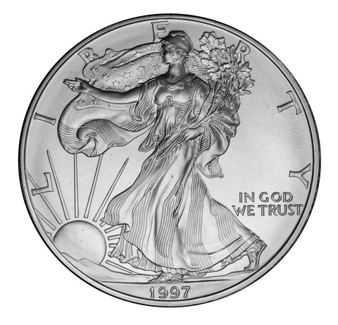 1997 Silver Eagle . . . . <br>Gem Brilliant Uncirculated