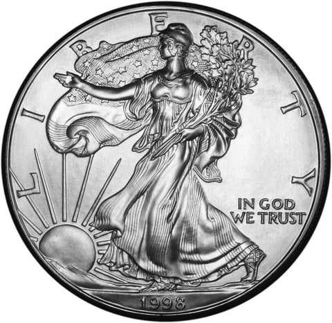 1998 Silver Eagle . . . . <br>Gem Brilliant Uncirculated