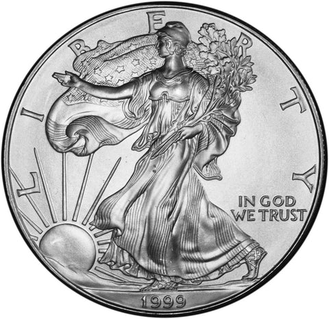 1999 Silver Eagle . . . . Gem Brilliant Uncirculated
