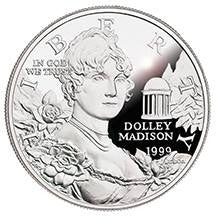 1999-P Dolley Madison Silver Dollar