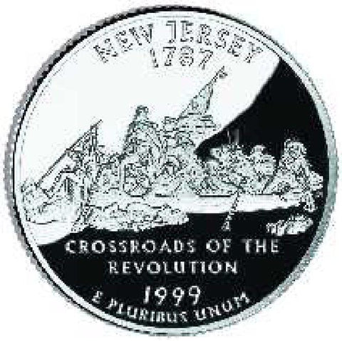 1999-D New Jersey Statehood Quarter