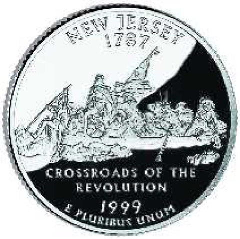 1999 New Jersey Statehood Quarter . . . . Choice BU