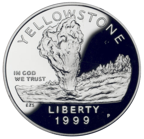 1999-P Yellowstone National Park Silver Dollar <br>Gem Brilliant Proof