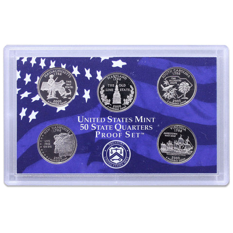 2000-S Statehood Quarter 5-coin Proof Set