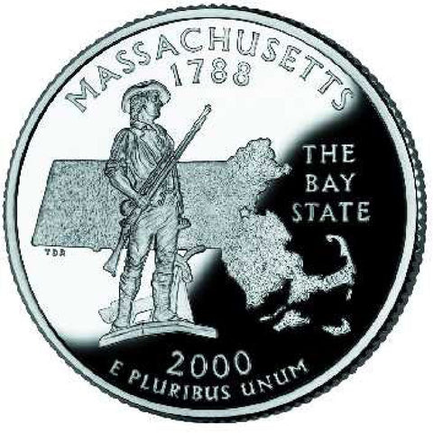 2000-D Massachusetts Statehood Quarter