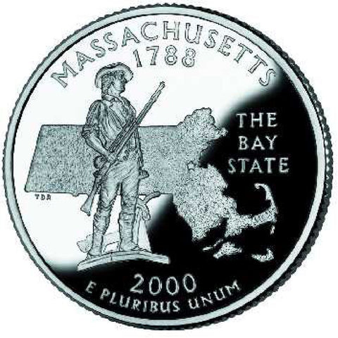 2000-P Massachusetts Statehood Quarter