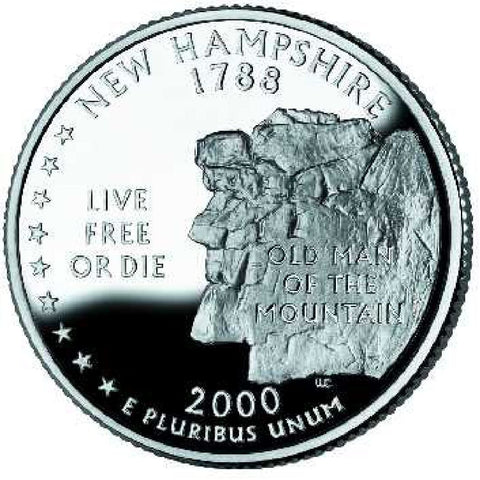 2000-D New Hampshire Statehood Quarter