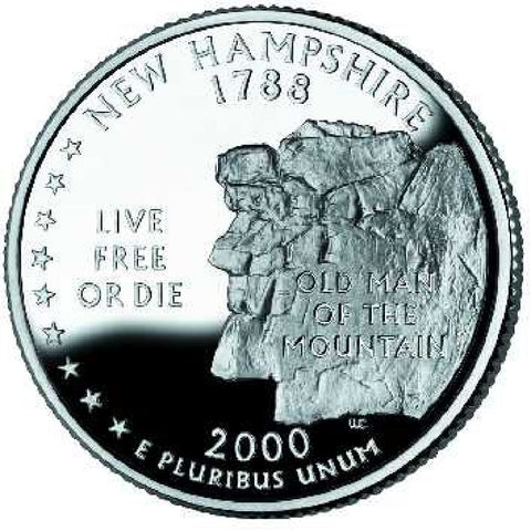 2000-P New Hampshire Statehood Quarter