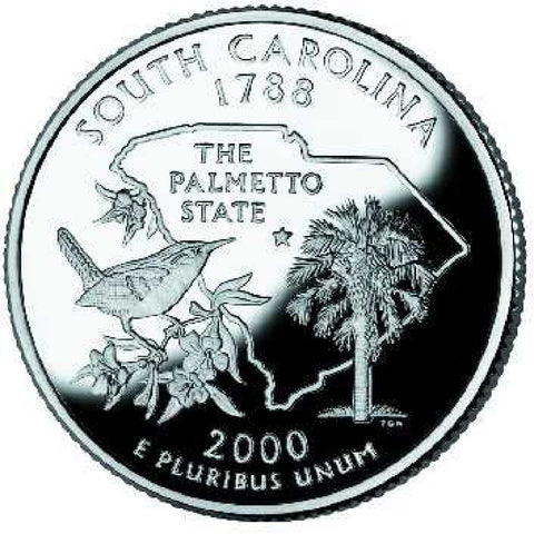 2000-D South Carolina Statehood Quarter