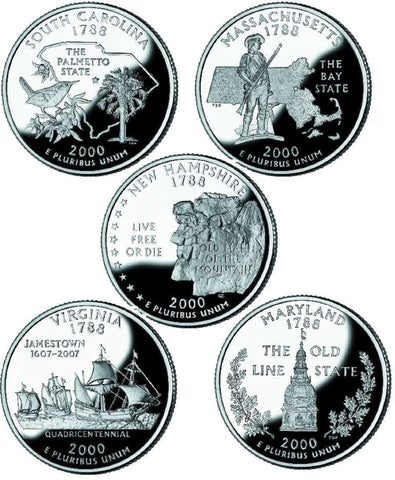 All 10 2000 P and D State Quarters
