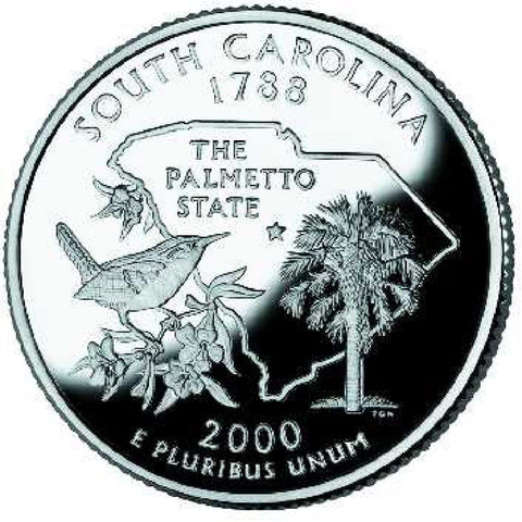 2000-P South Carolina Statehood Quarter