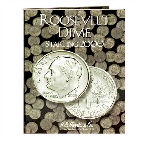 Roosevelt Dime Harris Coin Folder