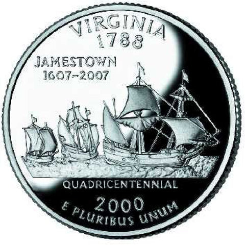 2000-D Virginia Statehood Quarter
