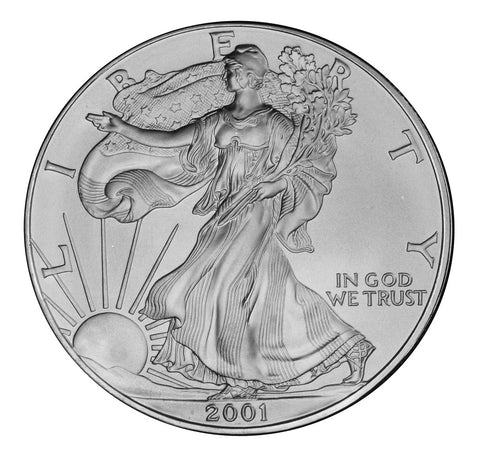 2001 Silver Eagle . . . . <br>Gem Brilliant Uncirculated