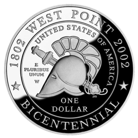 2002-W West Point Bicentennial Silver Dollar